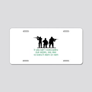 Our Troops Aluminum License Plate