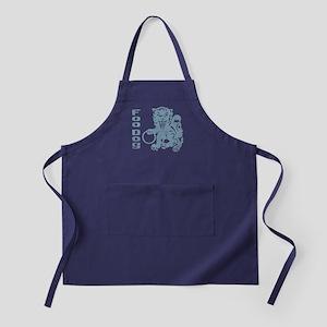 Foo Dog Blue Apron (dark)