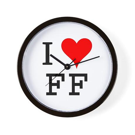 I Love FF Wall Clock