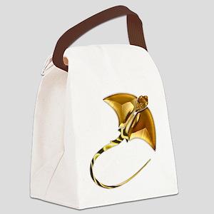 Gold Manta Sting Ray Canvas Lunch Bag