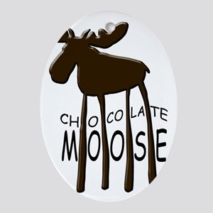 Chocolate Moose Oval Ornament
