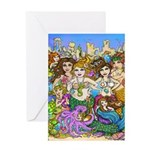 Don't Mess with Mermaids Greeting Cards