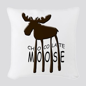 Chocolate Moose Woven Throw Pillow