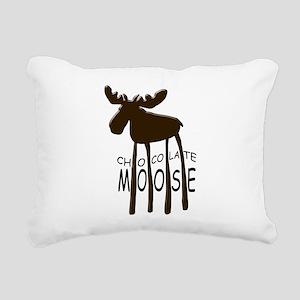 Chocolate Moose Rectangular Canvas Pillow