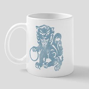 Foo Dog Stencil Blue Mug