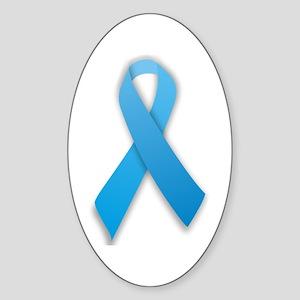 Prostate Cancer Ribbon Oval Sticker