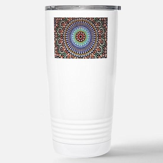 moroccan mosaic Stainless Steel Travel Mug