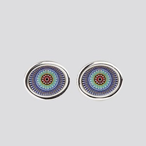 moroccan mosaic Oval Cufflinks