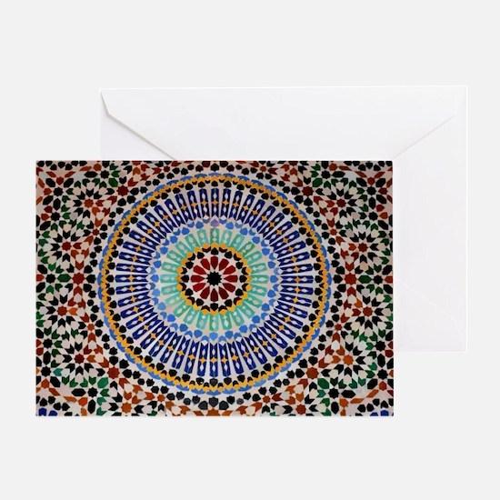 moroccan mosaic Greeting Card