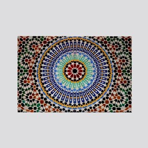 moroccan mosaic Rectangle Magnet