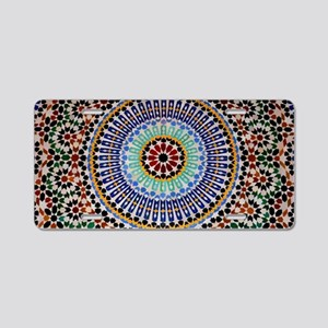 moroccan mosaic Aluminum License Plate