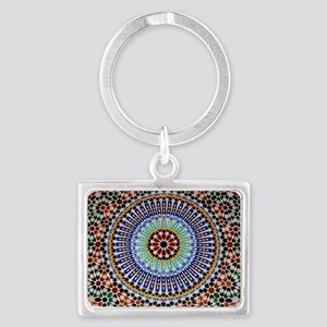 moroccan mosaic Landscape Keychain