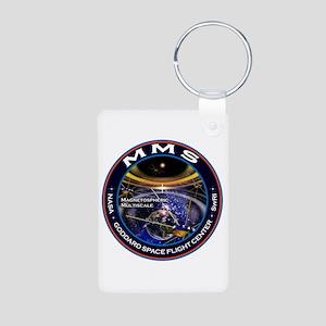 Magnetospheric Multiscale Aluminum Photo Keychain