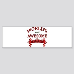 World's Most Awesome 18 Year Old Sticker (Bumper)