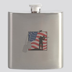 Support Our Troops Flask