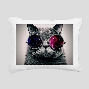 Cool Cat-Galaxy Rectangular Canvas Pillow
