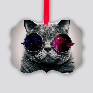 Cool Cat-Galaxy Picture Ornament