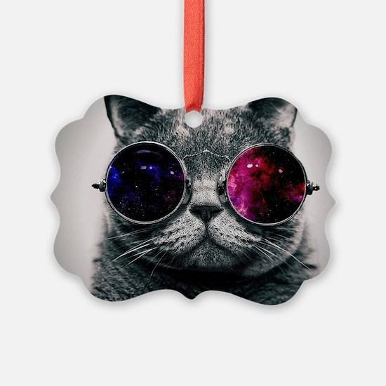 Cool Cat-Galaxy Ornament