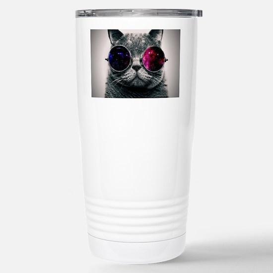 Cool Cat-Galaxy Stainless Steel Travel Mug
