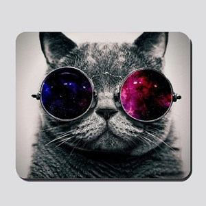 Cool Cat-Galaxy Mousepad
