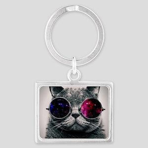 Cool Cat-Galaxy Landscape Keychain