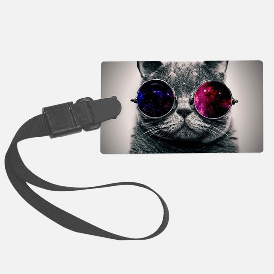 Cool Cat-Galaxy Large Luggage Tag