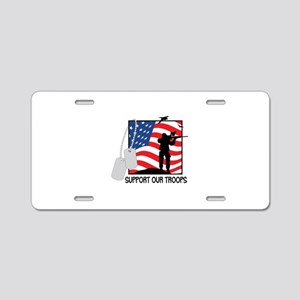 Support Our Troops! Aluminum License Plate