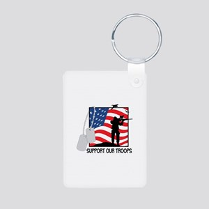 Support Our Troops! Keychains