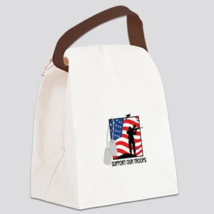 Support Our Troops! Canvas Lunch Bag