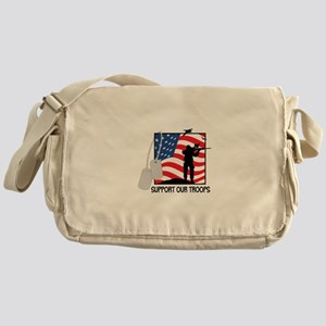 Support Our Troops! Messenger Bag