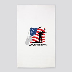 Support Our Troops! 3'x5' Area Rug