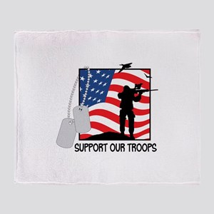 Support Our Troops! Throw Blanket