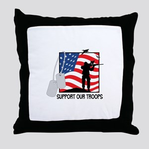 Support Our Troops! Throw Pillow