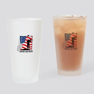 Support Our Troops! Drinking Glass