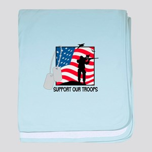 Support Our Troops! baby blanket