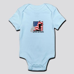 Support Our Troops! Body Suit