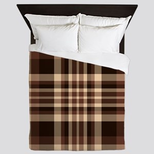 Coffee Lovers Plaid Queen Duvet