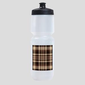 Coffee Lovers Plaid Sports Bottle