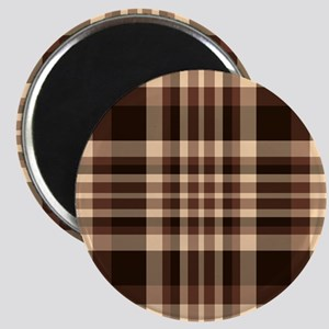 Coffee Lovers Plaid Magnet