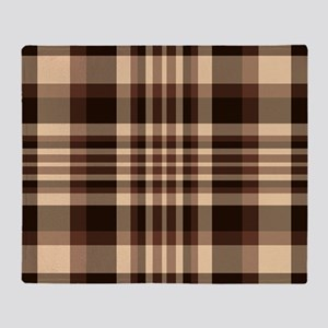 Coffee Lovers Plaid Throw Blanket