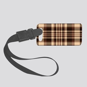 Coffee Lovers Plaid Small Luggage Tag