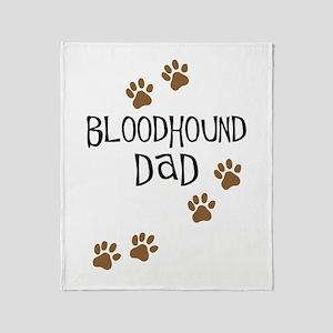 Bloodhound Dad Throw Blanket