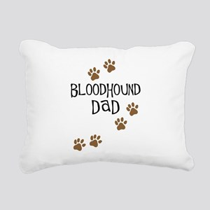 Bloodhound Dad Rectangular Canvas Pillow