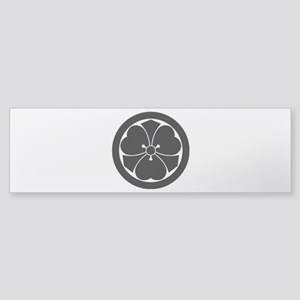 Wood sorrel with swords in circle Sticker (Bumper)