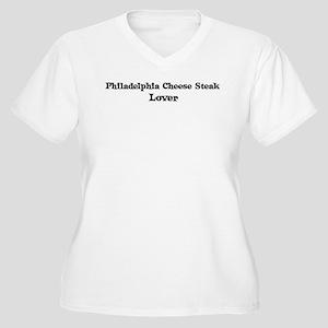 Philadelphia Cheese Steak lov Women's Plus Size V-