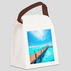 Tropical Paradise Canvas Lunch Bag