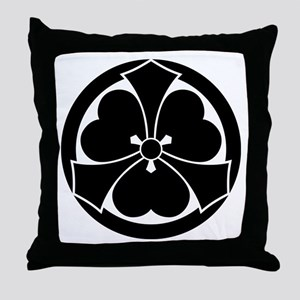 Wood sorrel with jut-out-swords in ci Throw Pillow