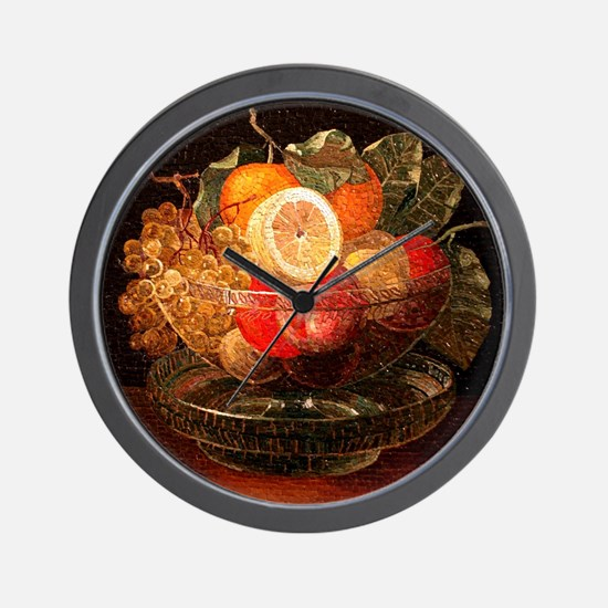 fruit mosaic Wall Clock