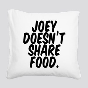 Joey Food Square Canvas Pillow