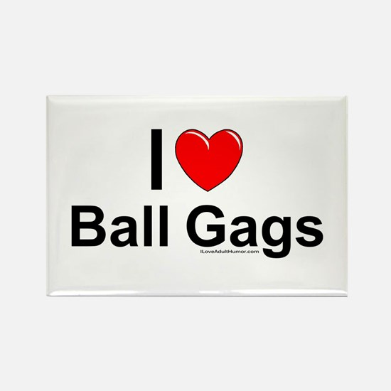 Ball Gags Rectangle Magnet